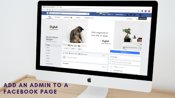 Ad an admin to Facebook business page