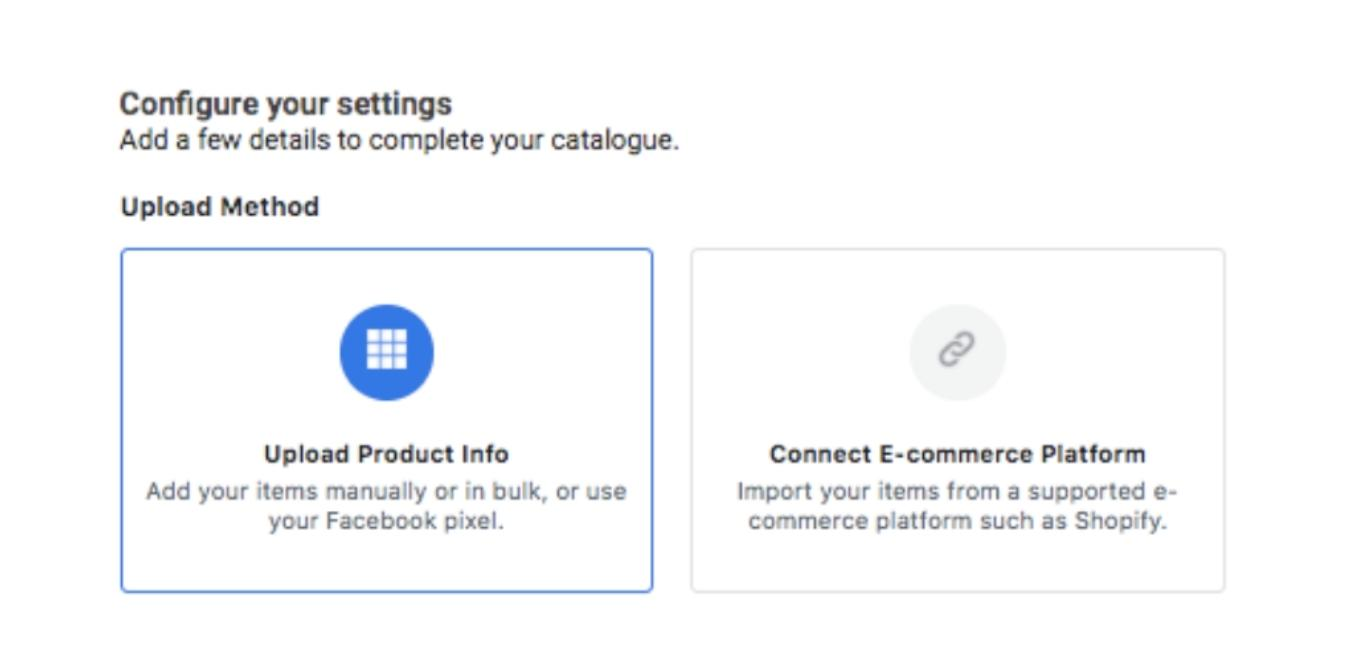 configure facebook shop