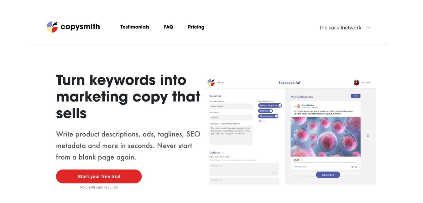 Copysmith-social-media-tools