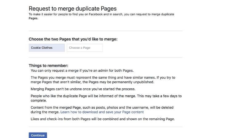 select pages to merge